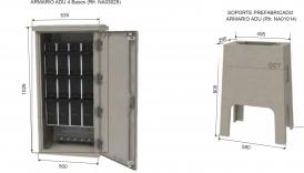 NA05014 SOPORTE PREFABRICADO Z-2 Ref. ENDESA 6700037 para armario ADU Ref. ENDESA 6700035