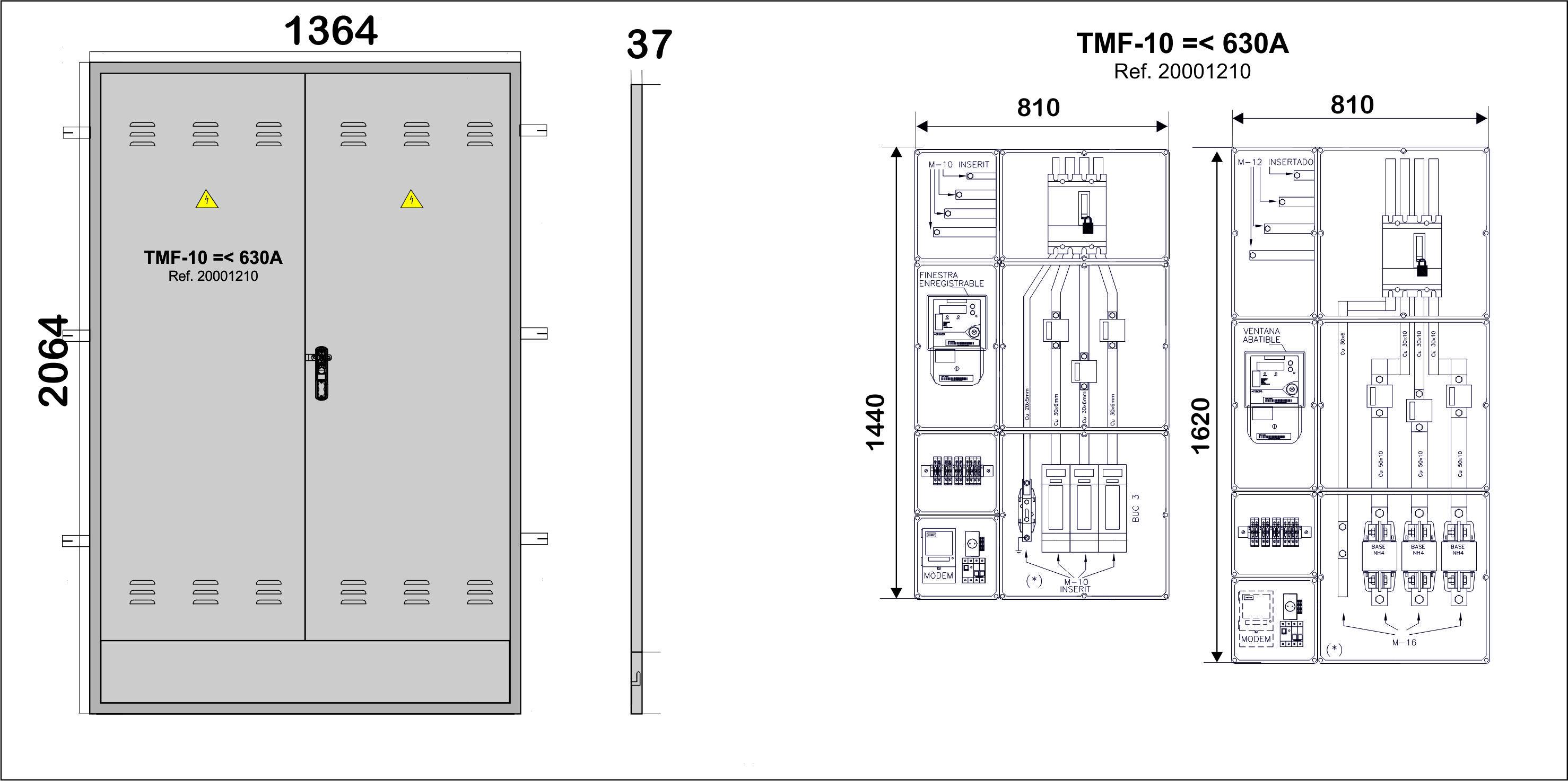 Na02064 puertas met licas para empotrar en pared nichos for Oficina fecsa endesa