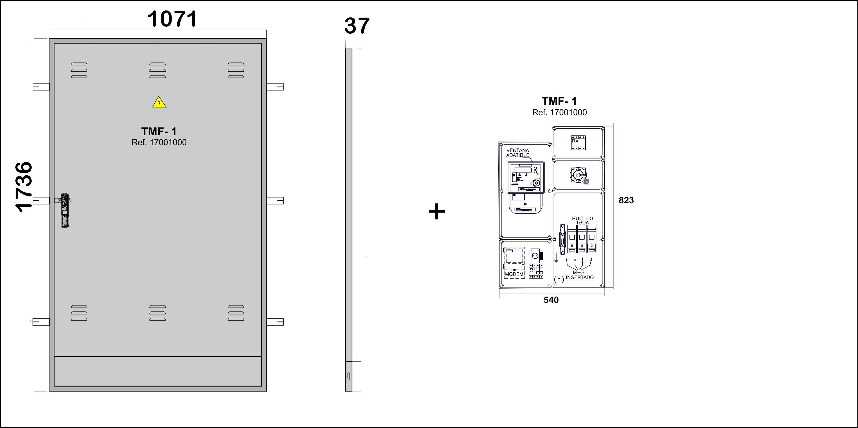 Na02061 puertas met licas para empotrar en pared nichos for Oficina fecsa endesa