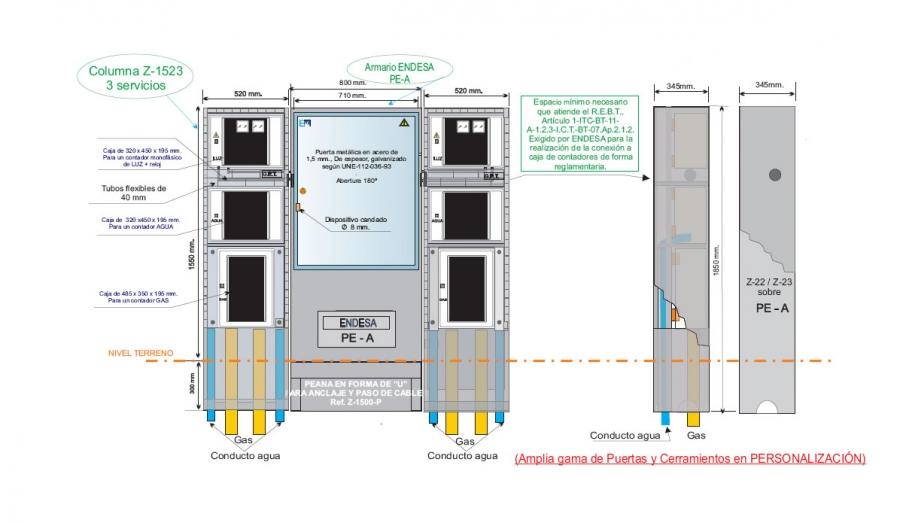 NA05062 Columna Z-1523 _3 Vista Frontal