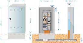 NA05069 Armario GRA 2550/1030. CIERRE TRES PUNTOS JIS. EQUIPADO (en este caso con TMF-10 de hasta 111Kw)