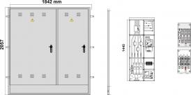NA02076 puertas metálicas INVERTIDAS para empotrar en pared / nichos - FECSA ENDESA
