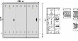 NA02070 Puerta empotrar en pared de 2057 x 2153 con DOS PUERTAS INDEPENDIENTES